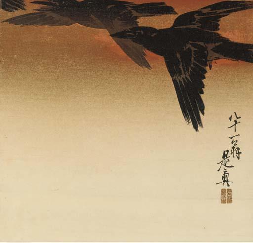 Shibata Zeshin (1807-91), a woodblock print, 1888