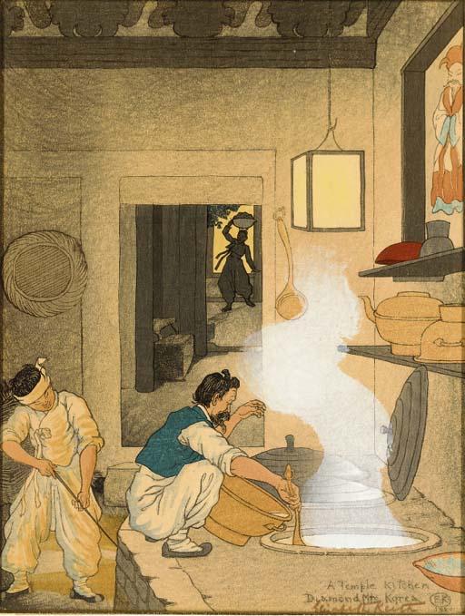 Elizabeth Keith (1887-1956), three woodblock prints, circa 1920