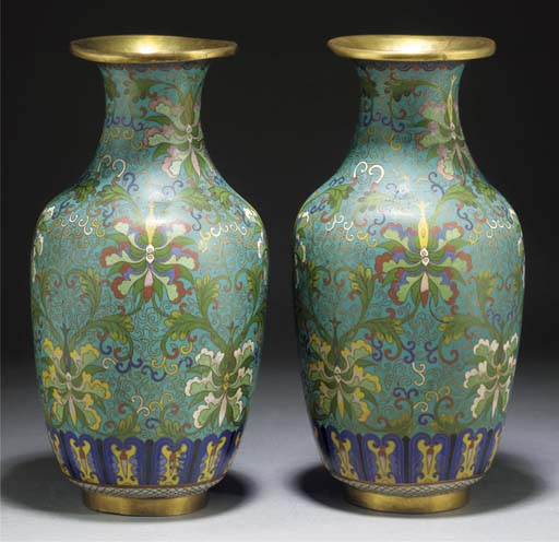 A Pair of Chinese Cloisonne ba