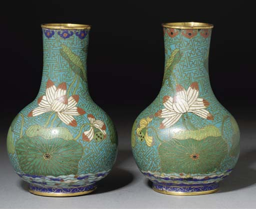A Pair of Chinese Cloisonne gl