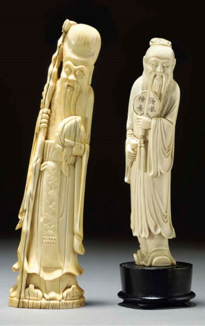 Two Chinese ivory carvings, 19