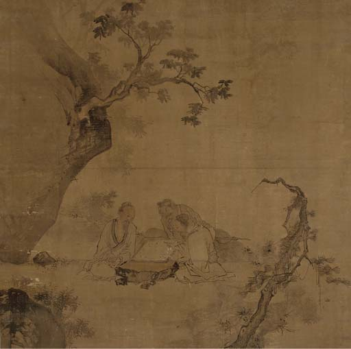 A Chinese hanging scroll, 18th century
