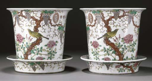 A pair of Chinese Dayazhai fam