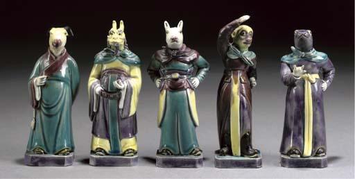 Five Chinese zodiac figures, circa 1900