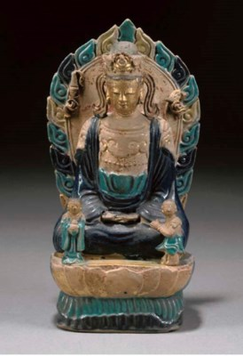 A CHINESE BLUE AND TURQUOISE-G