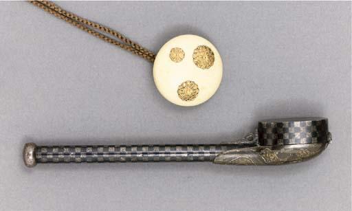 A silver yatate, Edo Period