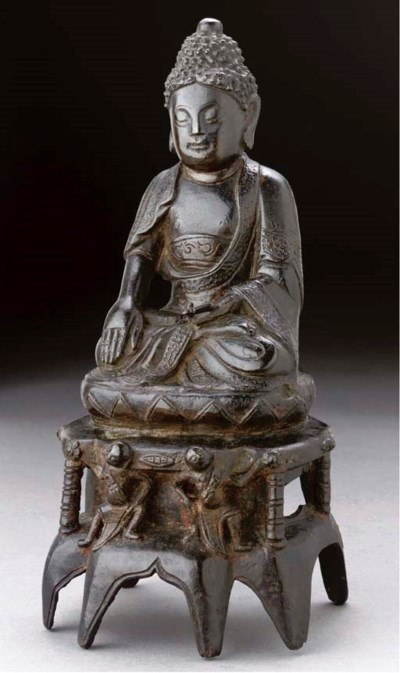 An iron model of Buddha, Edo P