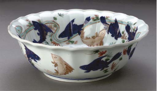A Japanese lobed bowl, 18th ce