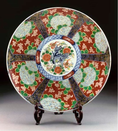 An Imari charger, late 19th ce