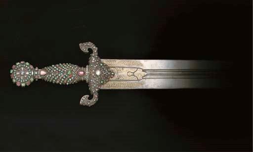 AN OTTOMAN SWORD WITH GEM-SET