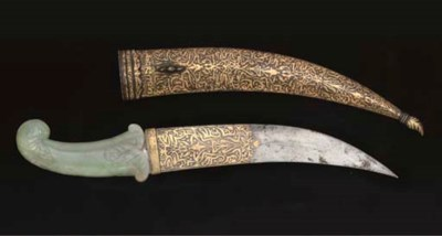 A JADE HILTED DAGGER, THE BLAD