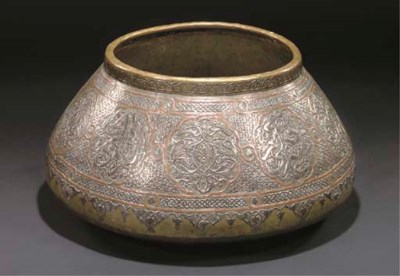 A LARGE CAIROWARE BOWL, SYRIA,
