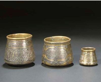 THREE CAIROWARE JARLETS, SYRIA