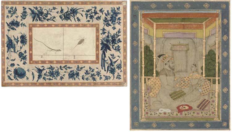 PORTRAIT OF SHAH JAHAN OR AURANGZEB WITH A PRINCESS, MUGHAL, 17TH/18TH CENTURY