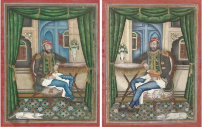 A PAIR OF PORTRAITS OF RAM SIN