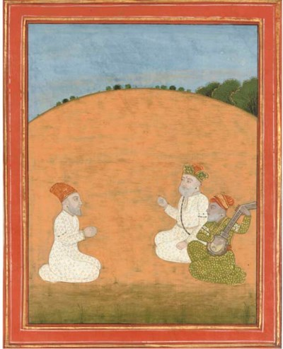 FOUR PAINTINGS OF GURUS, SIKH