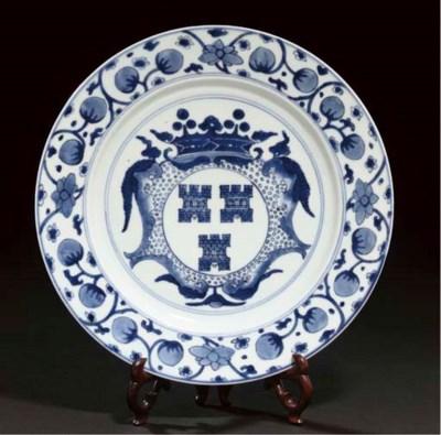 A blue and white Dutch armoria