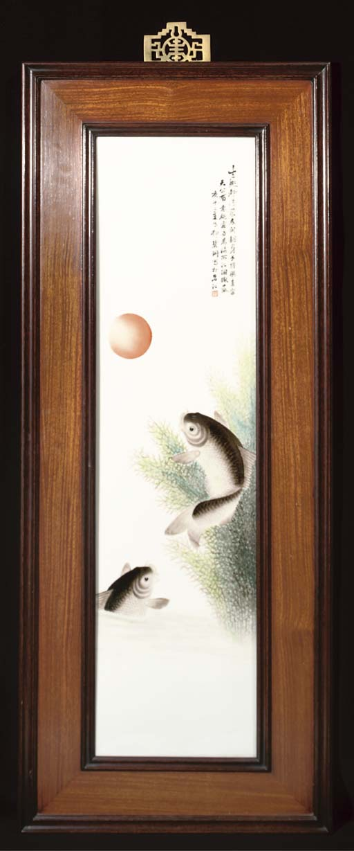 A porcelain panel, early 20th century