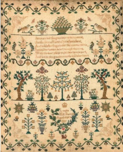 A sampler by Louisa Hill Barre