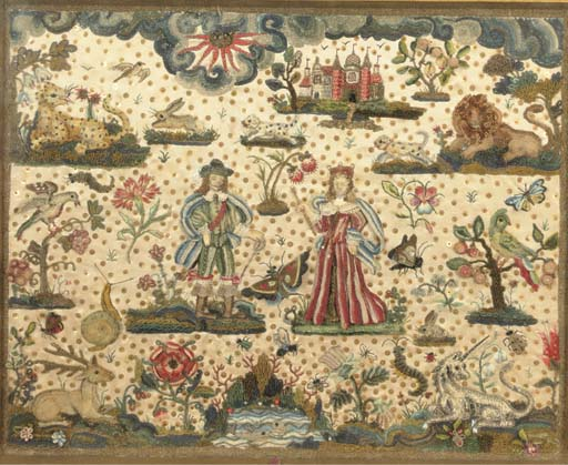 A raised work picture embroide