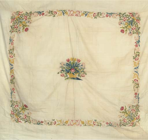 A crewelwork hanging, embroide