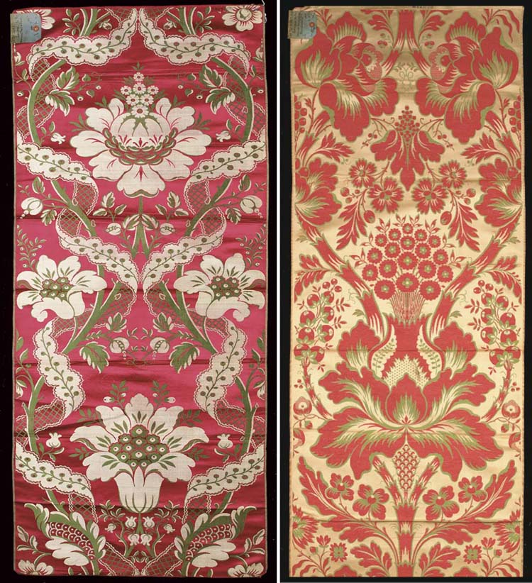 A collection of damasks includ