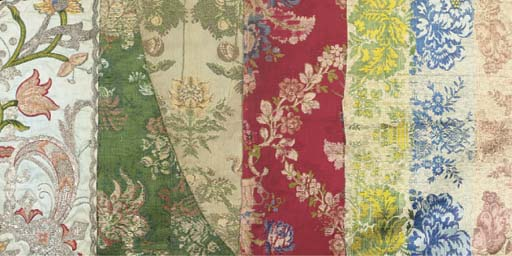 A collection of silks, mainly
