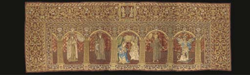 An altar frontal of crimson ve