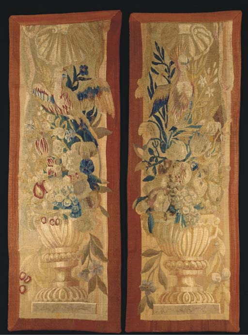 A pair of tapestry border pane