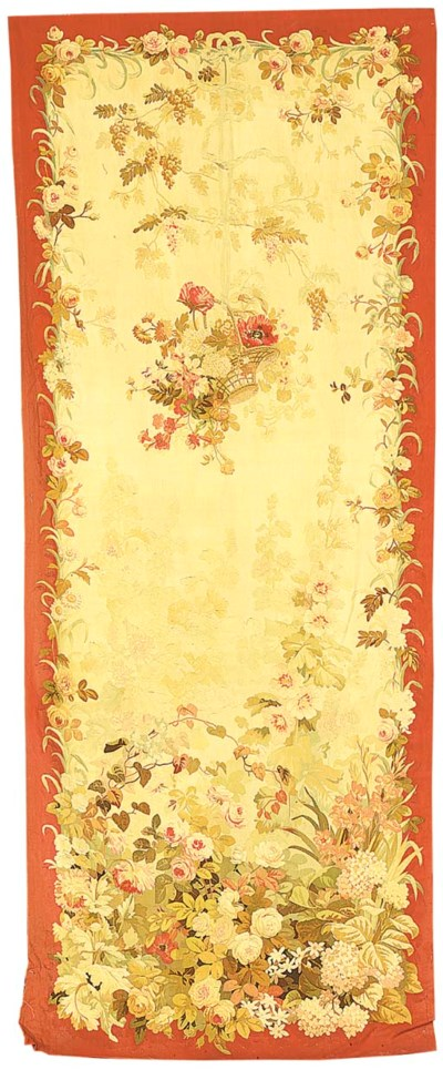 A decorative Aubusson tapestry
