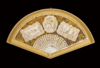 A rare trompe l'oeil fan with