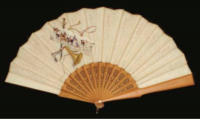 The Hunt,  a fan set with a St