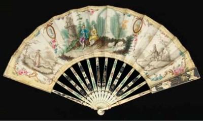 A formal garden, a fan, the le