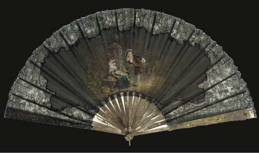 A fan, signed Francis Houghton