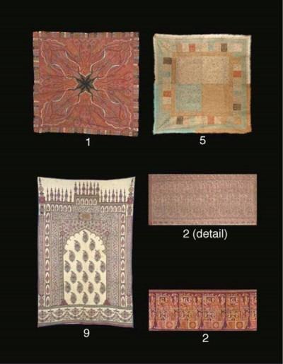 An embroidered rumal shawl, th
