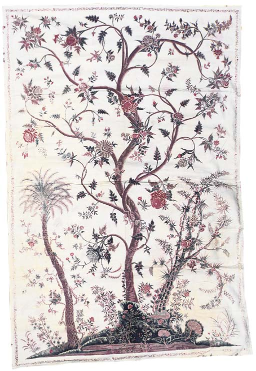 A palampore, printed and paint