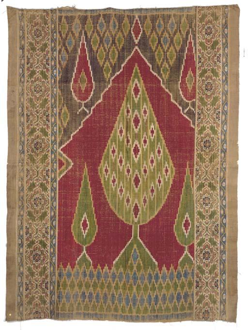 A silk velvet prayer-hanging,