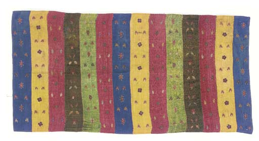 An embroidered patchwork trous