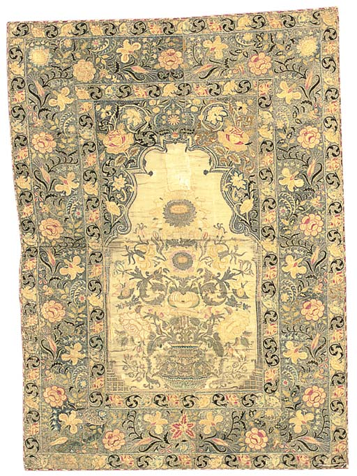 An embroidered prayer-hanging,