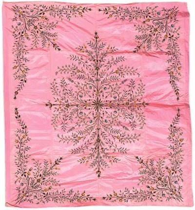 A tapestry-woven prayer hangin