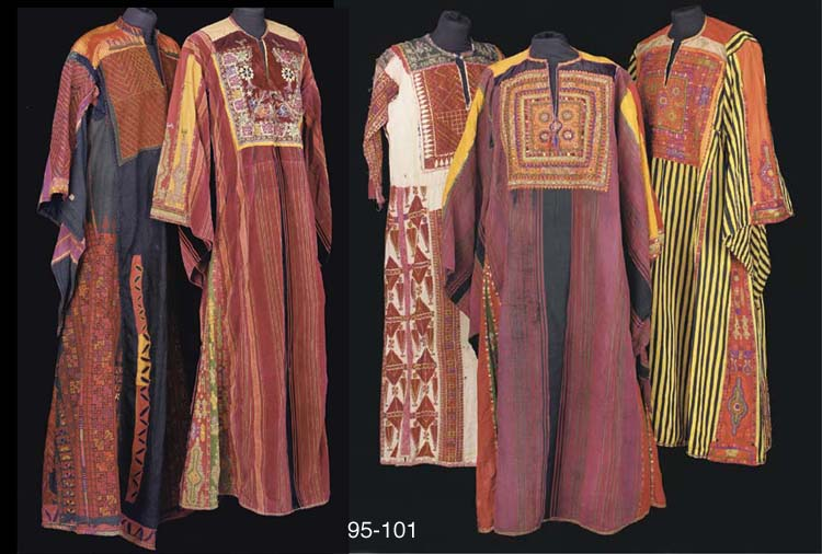 A Palestinian dress of red str