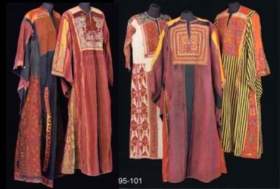 A Palestinian dress of red str