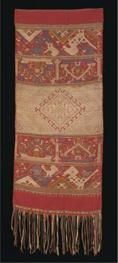 A fine silk ceremonial shoulde