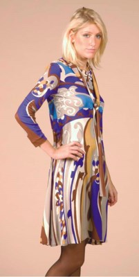 A DAY DRESS OF PRINTED JERSEY