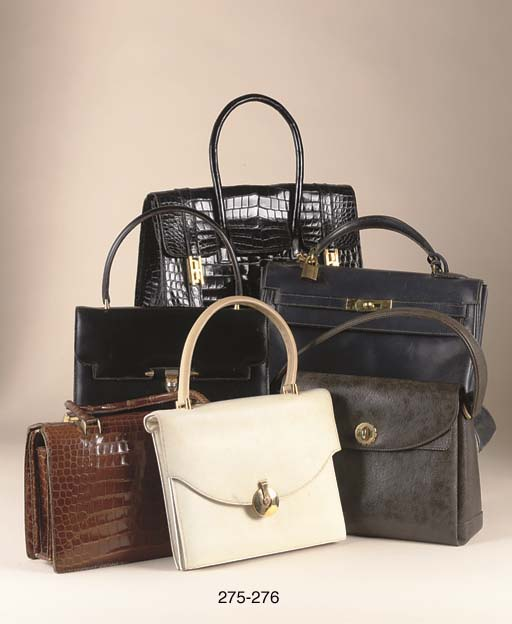 THREE LEATHER HANDBAGS