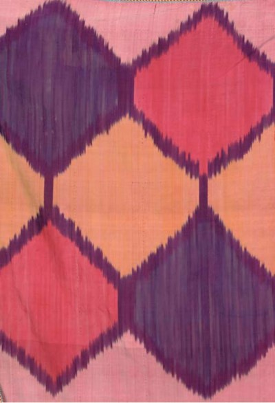 A SILK IKAT COVER, BOKHARA, EA
