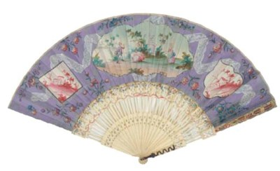 A TROMPE L'OEIL FAN WITH PAGOD