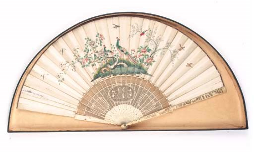 A CHINESE FAN, THE LEAF PAINTE