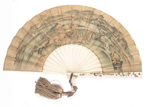 A JAPANESE FAN, THE SILK LEAF