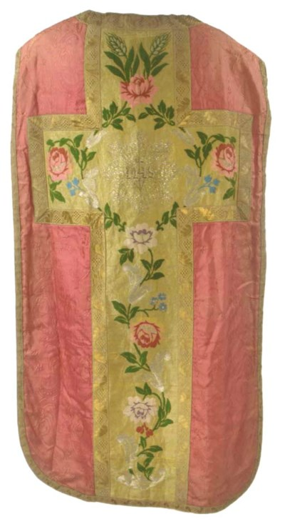 FOUR CHASUBLES INCLUDING ONE W